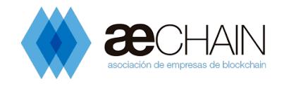 Logo de Aechain. Asociación de empresas de Blockchain